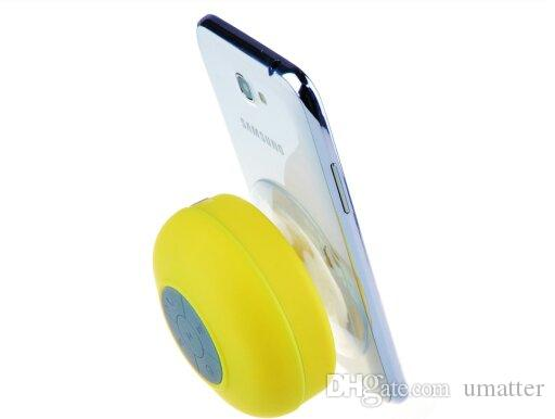BTS-06 Sucker Mini Portable Bluetooth Speaker Shower Water Resistant Wireless Sound Box Support Hands-free Calls For Mobile Phone /up