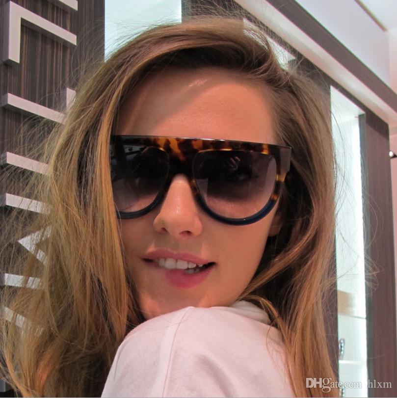 74b10f53c2 Compre 2016 Nueva Marca Diseñador Mujeres Gafas De Sol Moda Celebrity Gafas  De Sol Piso Superior Escudo Señora Femenina Oversize Superstar Shades A  $21.61 ...