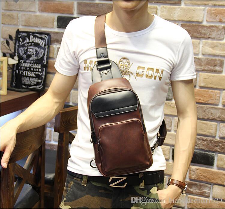 19f8efc139 2016 New Men S Chest Pack Shoulder Bag Korean Version Of Messenger Bag  Business Man Bag Trend Of Outdoor Leisure Backpack Tide Leather Satchel  Ladies Bags ...