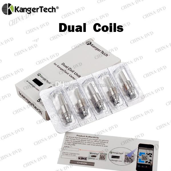 Original Kanger Upgraded Dual Coils 0.8ohm 1.0ohm 1.2ohm 1.5ohm 1.8ohm Replacement Coil Head Fit Kangertech Sub ohm Tanks