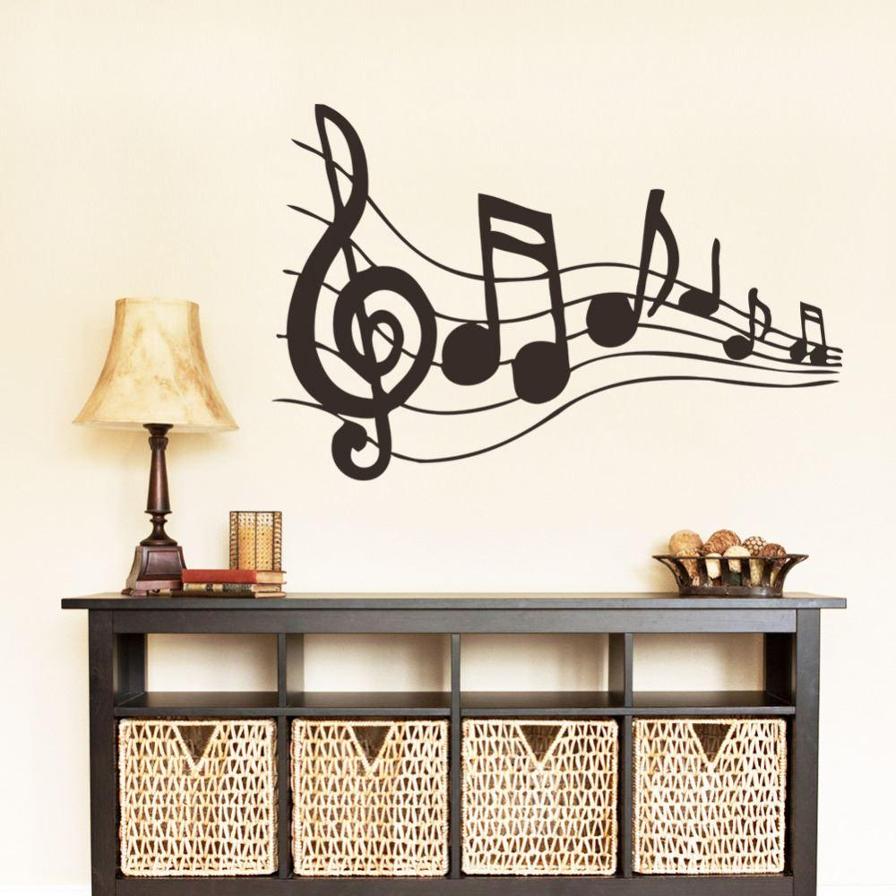 new design creative music musical notes notation vinyl wall decal