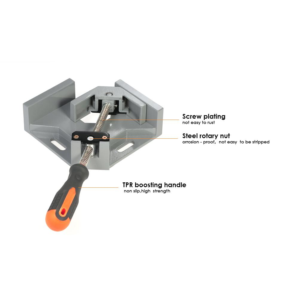 90 Degree Corner Right Angle Vice Welding Woodworking Clamps at Right Angle Carbide Vise-Single Hand