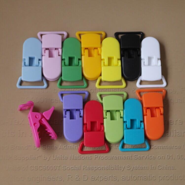 2.0 cm D şekli Kam Plastik Bebek Askı Emzik Kukla emzik Zinciri Tutucu Klipler için 20mm şerit