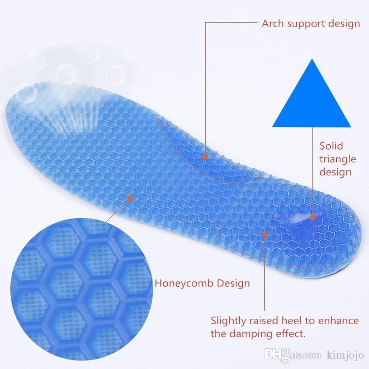 Soft Silicone Gel Honeycomb Shoe Pad Arch Support Cushion Foot Care for Plantar Fasciitis Heel Spur Running Sport Insoles