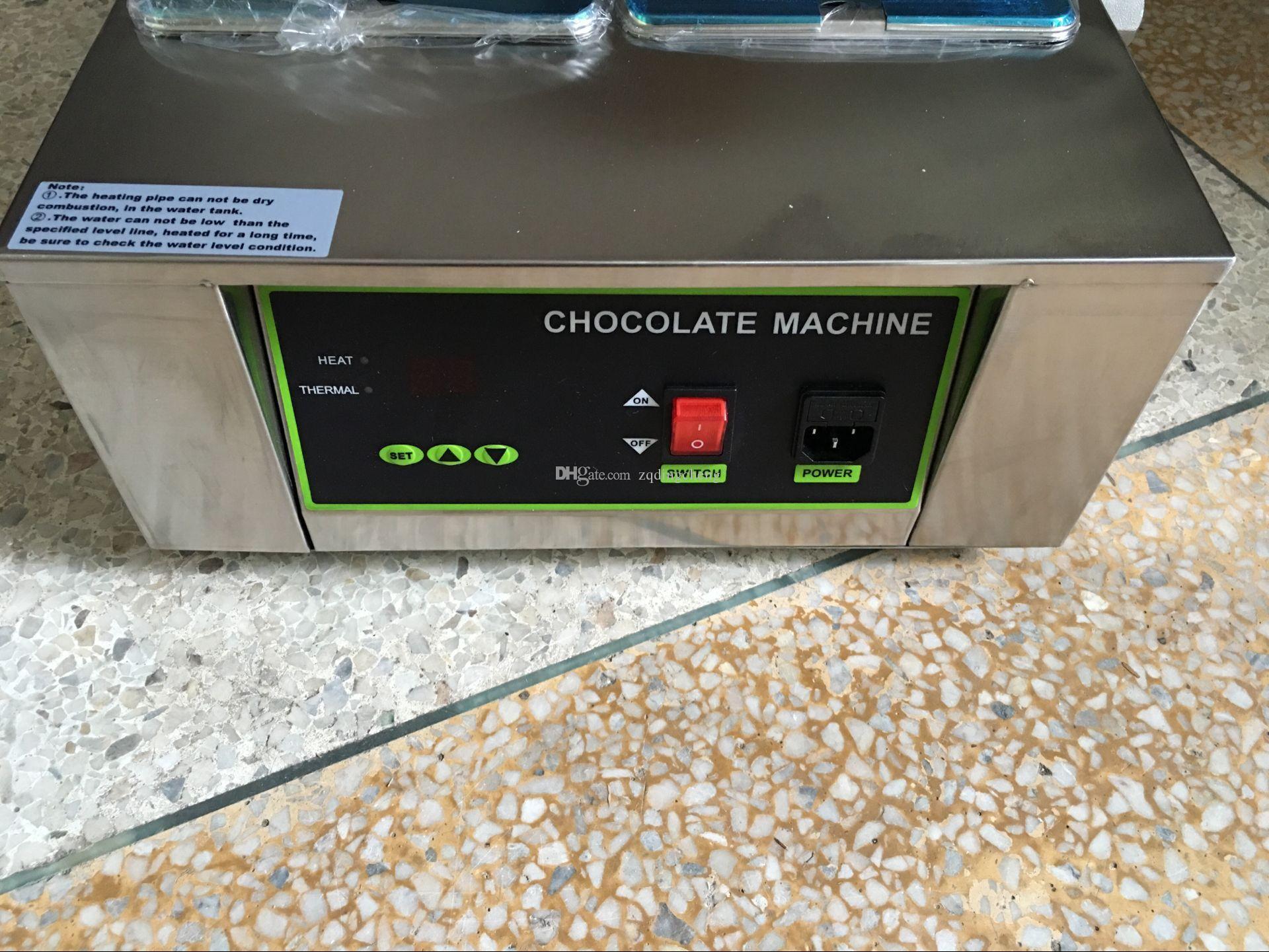 Freies Verschiffen für Handelsgebrauchs-5 Behälter-Digital-Reihen-Schokoladen-Schmelzen-Maschinen-Edelstahl-Schokoladen-Brunnen