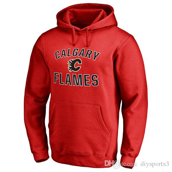 detailed look 36a9a cfa2b 17-18 NHL CALGARY FLAMES hoodies 13 Johnny Gaudreau any custom Name and  Number Player sweatshirts