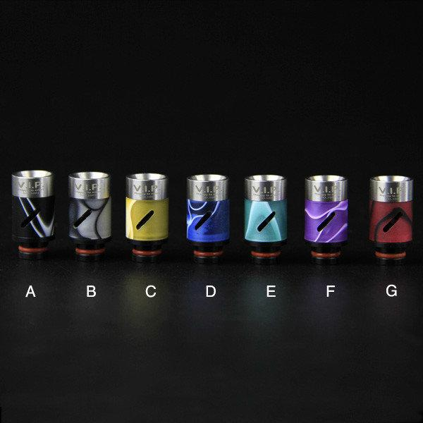 13 Style Stainless Steel Airflow Wide Bore Skull 510 Ego Drip tips Pyrex Glass Metal Jade Stone Turquoise Drip tip Resin Ceramic Mouthpiece