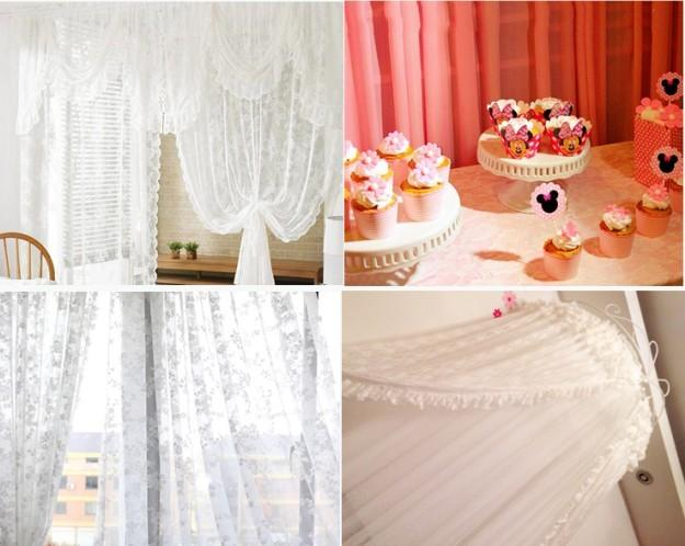 10 meters *1.5M / pcs Wedding reception table decoration table lace cloth wedding stage dessert cake table decor wedding backdrops props