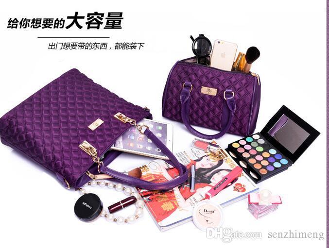 S815 with Women Ms. girl embossed handbags shoulder bags messenger bags purse wallets key cases makeup bags Leisure wild bag