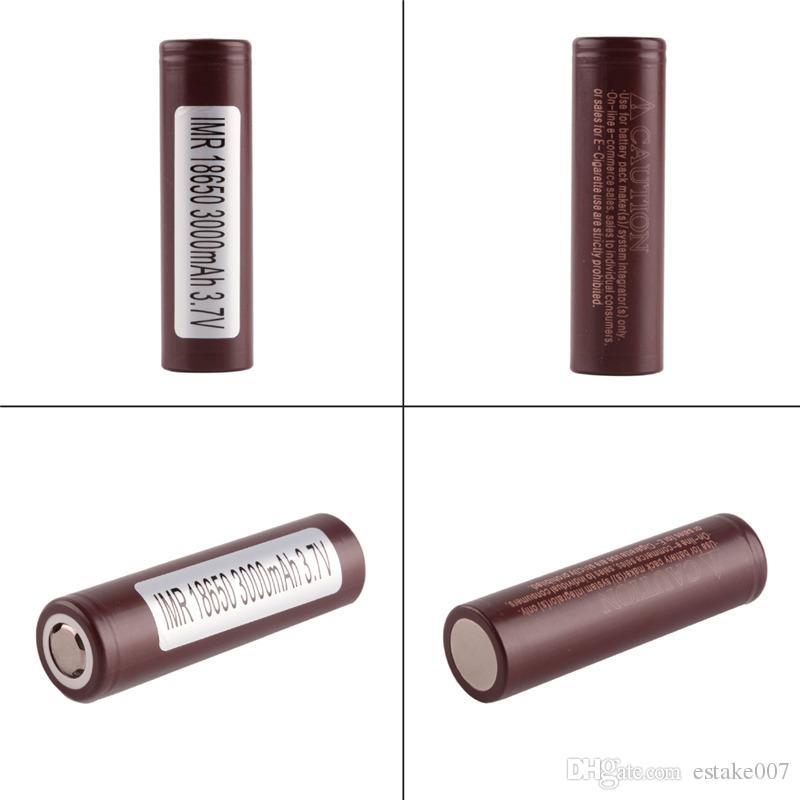 100% High Quality 18650 Battery HG2 3000mAh 30A Rechargable Lithium Batteries for LG Cells Fit Ecigs Vaporizer Vape box mod 0269006