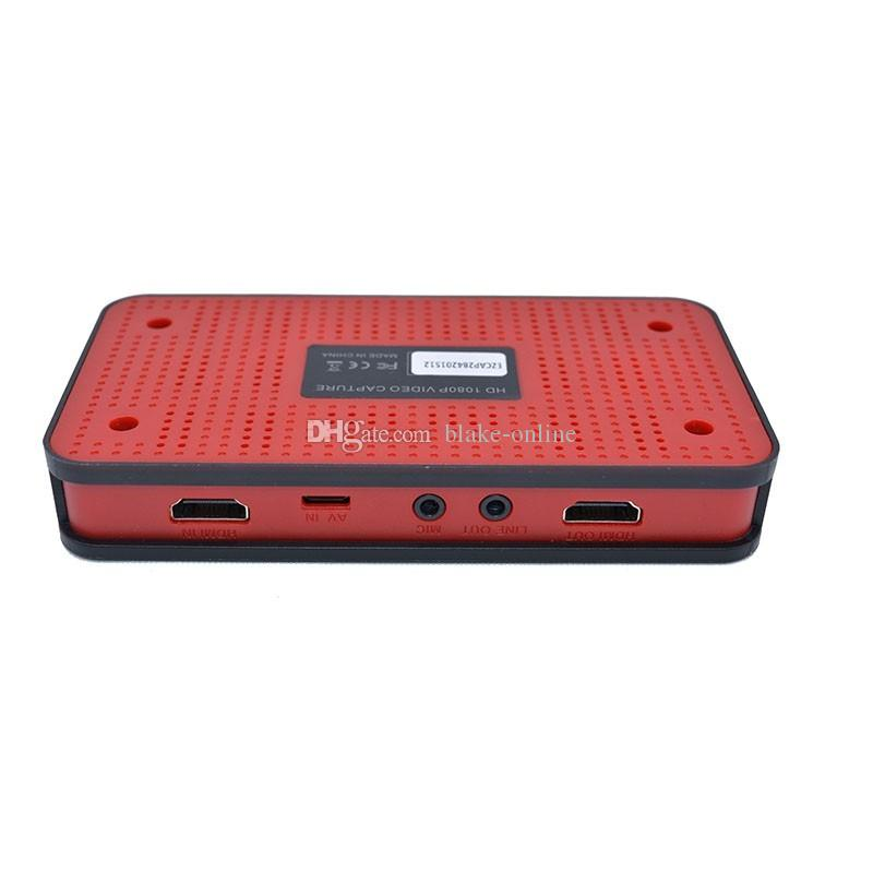 HD 1080P Video Capture EZCAP 284 Remote Control HD Game Capture AV/HDMI/YPbPr Recorder For Xbox 360/PS3 PS4/WiiU