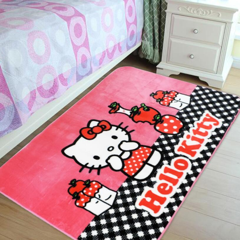 Acheter 130 * 185CM Tapis De Chambre Hello Kitty Tapis Doux Anti Slip  Livingroom De $115.96 Du Wmy136 | DHgate.Com