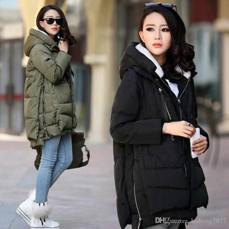 2018 Winter Outfit Korea Edition White Goose Down Military ...