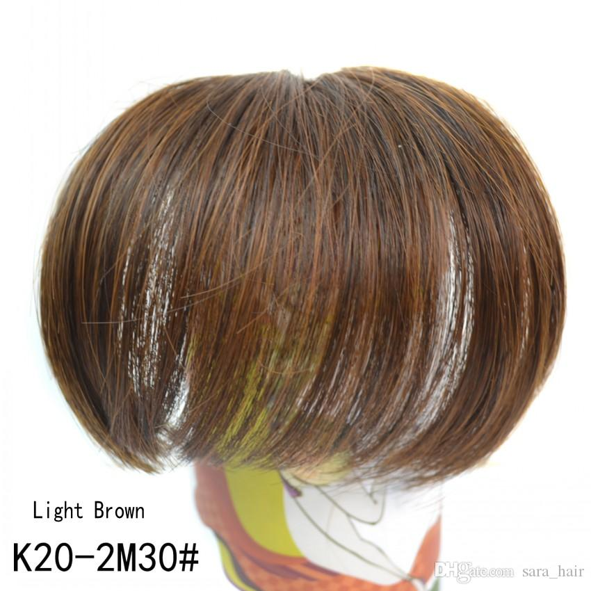 Sara Neat Bangs Clip in on Bangs Fringes Front Hair Extensions 10*14CM Frange Janet Synthetic Hair Pieces Bangs Hairpieces