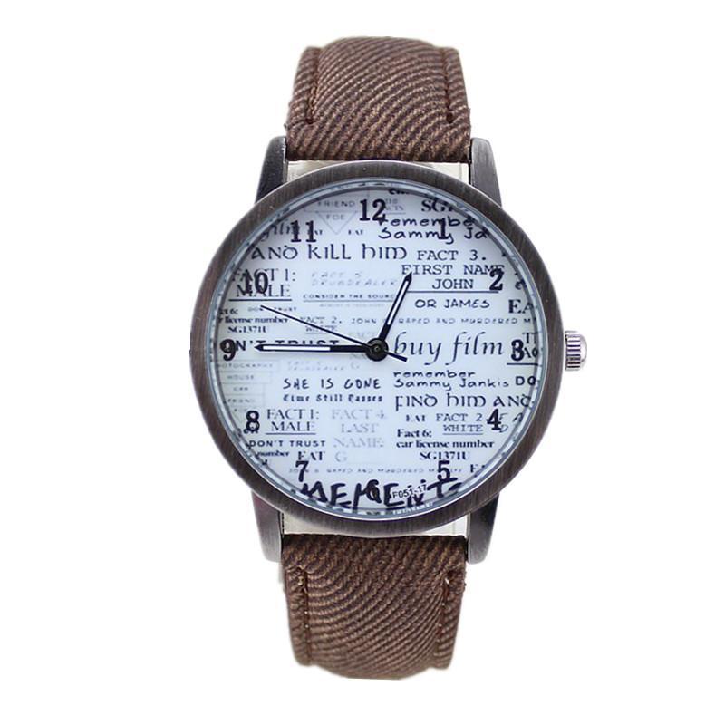 9c5433805421 Compre Venta Caliente Ginebra Relojes Palabras Patrón Marca Casual Reloj De  Cuarzo es Mujeres Relojes De Dibujos Animados Vestido De Fiesta Reloj A   1.32 ...