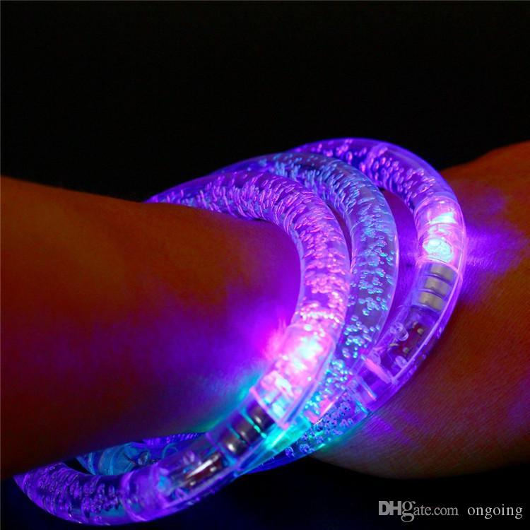 LED bracelet light up flashing Glowing bracelet Blinking Crystal bracelet Party Disco Christmas Gift