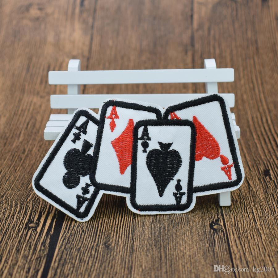 10 stücke spielkarte ein patches für kleidung taschen eisen auf transfer applique patch für kinder jeans diy nähen auf stickerei abzeichen