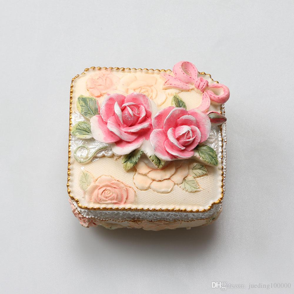 Super 2018 The Rose Garden Resin Jewelry Box Jewelry Box Soft Pottery  YR78