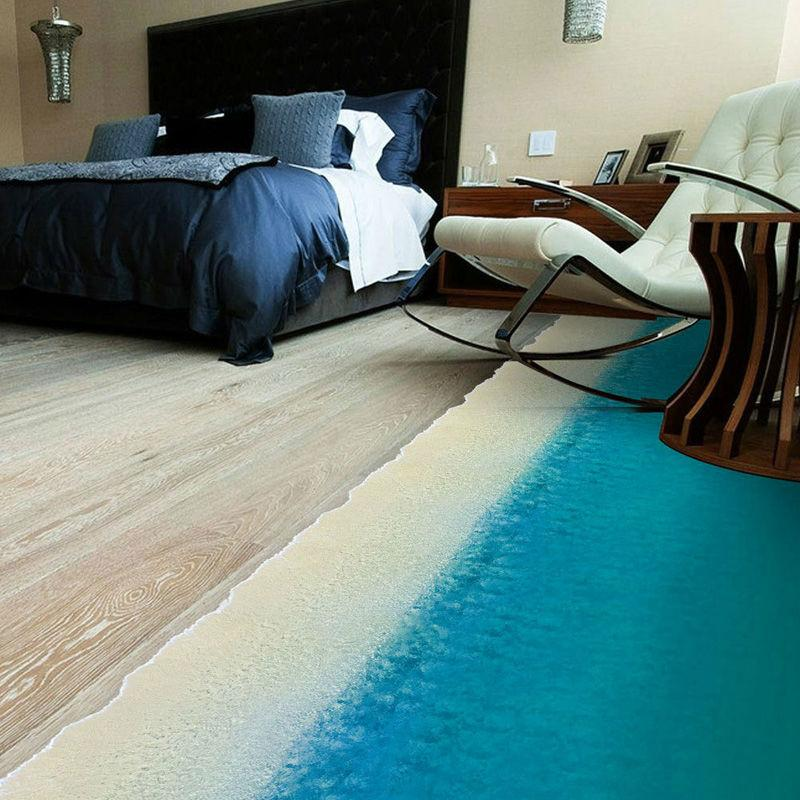 3d Beach Art Wall Sticker Floor Home Decor Decoration Living Room Mats For  Doors Entrance Bathroom Rugs Patterned Carpets Online Carpet Installation  Video ...