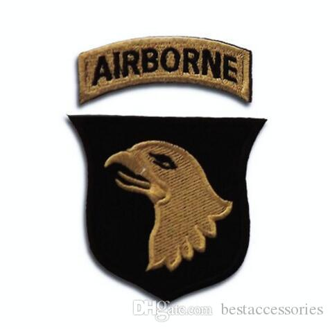 Embroidery Pacthes badges with magic Armband Eagle New US Army 101st  Airborne Division Patch Subdue iron on patches GPF-032 army patch