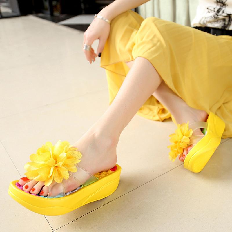 789e815851ba Fashion New Summer Women S Flip Flop Sandals Platform Flip Flops Slippers  Sandals Swing Wedges Women Hole Shoes Plus Size Summer Shoes Purple Shoes  From ...