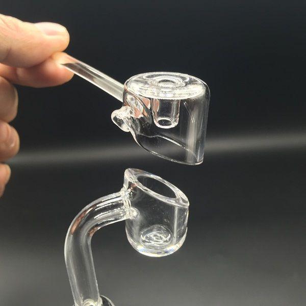 DHL free 4mm Thick clear Club Banger Quartz Nail with Quartz Carb Cap Manufacturer Quartz Nail Products For Glass Bongs Oil Rigs