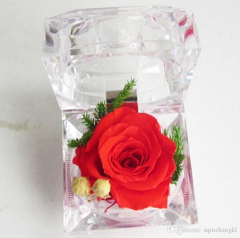 Preserved rose in ring box Engagement Preserved muliticolor rose Valentine's Day gift Natural real flowers Wedding rose Gift for loved one