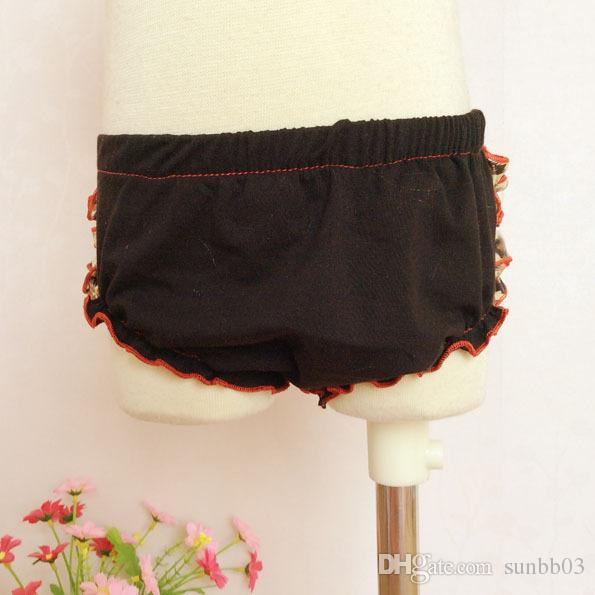 Infant Baby Girls Sets Bowknot Ruffles Tops + Shorts Bloomers Niños Chica Leopard Outfits Ropa para niños Negro 1760