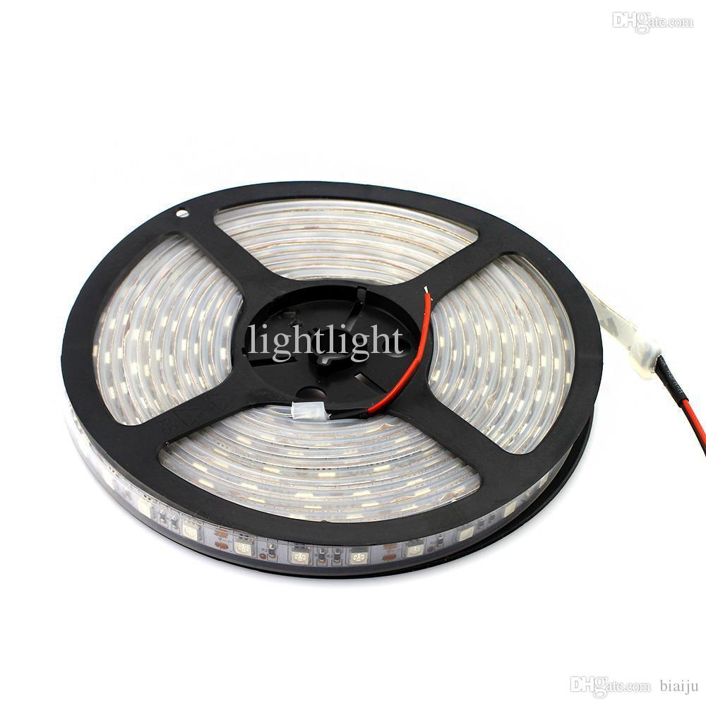 الجملة 5M 16FT LED للماء فوق البنفسجية الأرجواني أسود ضوء قطاع 5050 12V DC يلة قارب صيد للأشعة فوق البنفسجية ضوء أسود مصباح مرنة