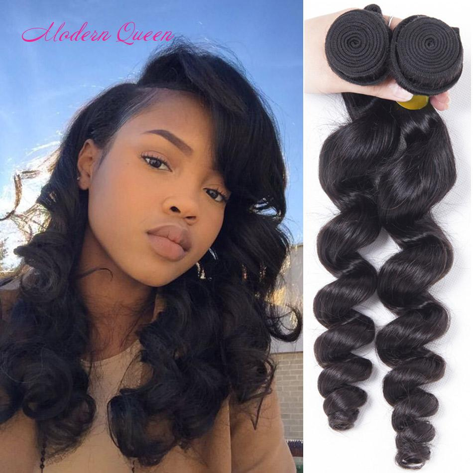 Brazilian Loose Wave Human Hair Extensions 2 Bundles Brazilian Loose