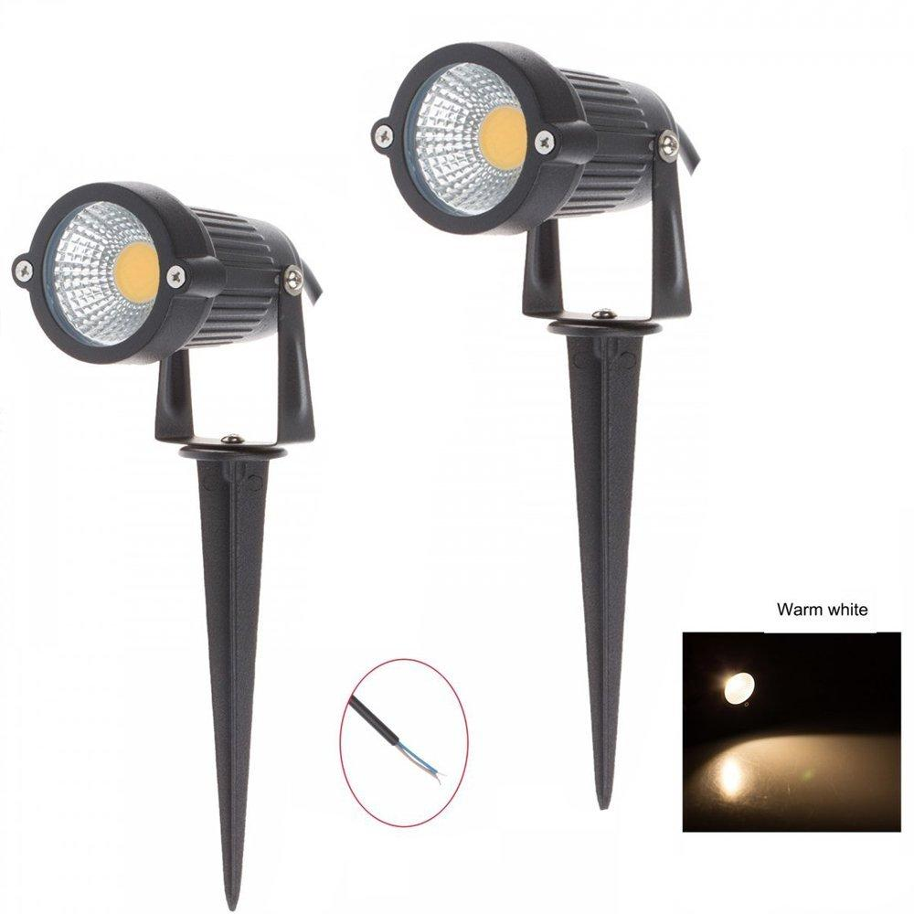 High Power Outdoor Decorative Lamp Lighting DC 12V 5W COB LED Landscape Lamp Garden Lamp Wall Yard Path Light Spiked Stand Base Stand
