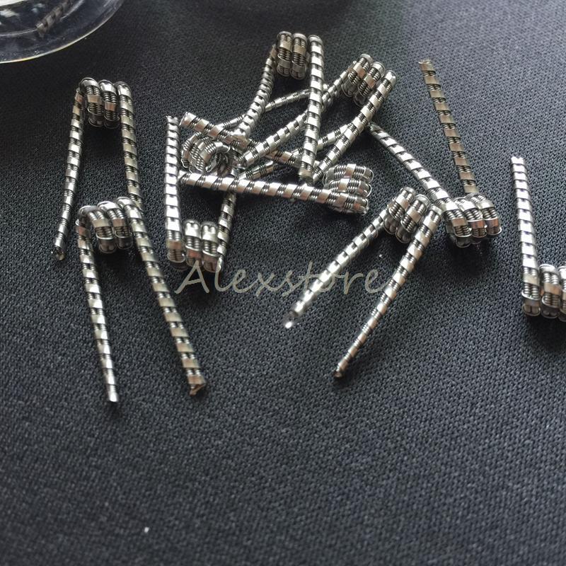 Juggernaut Wires 0.35ohm Ribbon Twisted Clapton 0.2ohm 0.3ohm Premade Wrap Prebuilt Resistance Coils /box for Vape RDA RTA