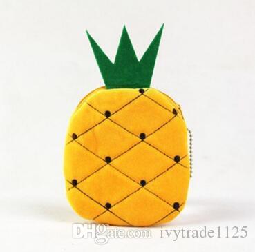 10.5cm neue emoji Fruchtwassermelonenorange scherzt Münzen-Geldbeutel nette gelbe Lächeln emoji Münzenbeutelplüsch hängende Kindreißverschlußmappe geben Schiff frei
