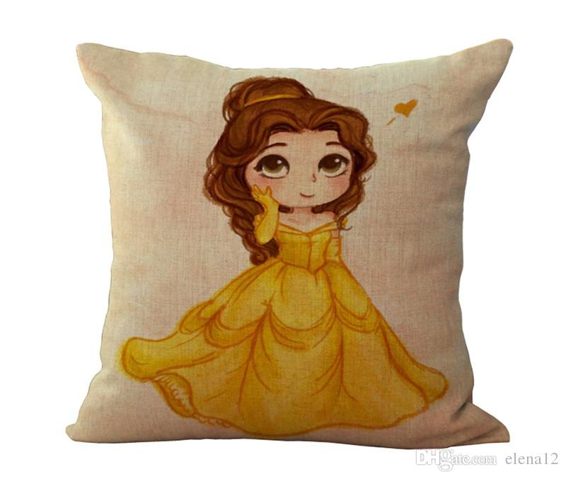 neue heiße Vintage-Baumwolle Leinen kreative Mädchen Fairy Princess Throw-Kissen Quadrat Kopfkissenbezug Abdeckung Kinder Geschenk Bettwäsche Hochzeit nach Hause 240484