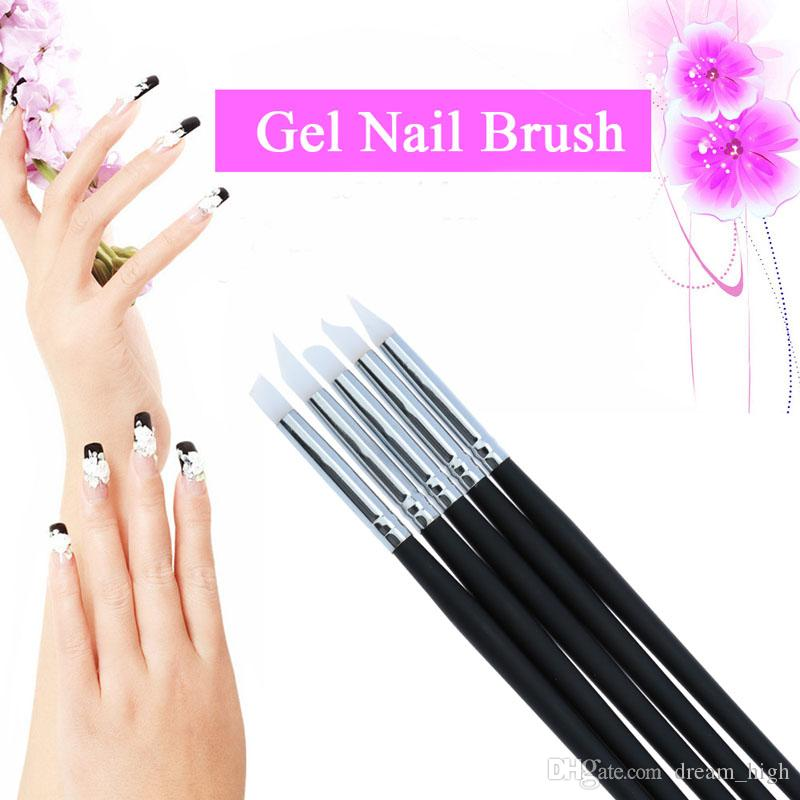 Silicone paint brush online silicone paint brush for sale nail silica gel pen 5pcs pro black nail art brush silicone gel brushes painting designing pens nails polish tools prinsesfo Image collections
