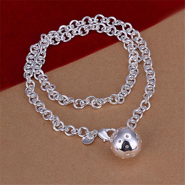 Sıcak satış Lob kolye gümüş plaka kolye STSN045, marka yeni moda 925 gümüş Zincirler kolye fabrika doğrudan satış noel hediyesi