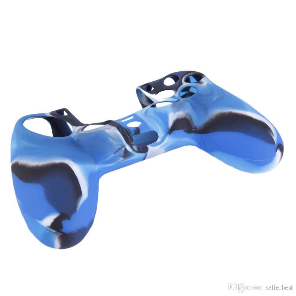 بارد التمويه لينة سيليكون الغطاء القضية حماية الجلد ل PS4 بلاي ستيشن 4 المراقب المالي