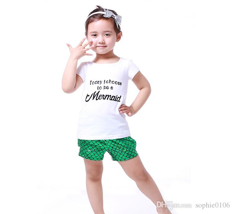Baby Girl Clothes Girls Mermaid Outfit Kids Girl's Short ...