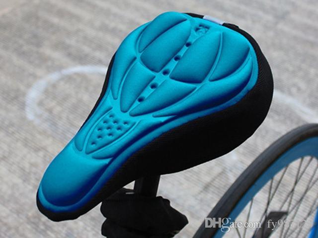 Atacado Bicicleta Sela Tampa de Assento 4 Cores Confortável 3D Silicone bicicleta Gel Ciclismo Tampa de Assento almofada