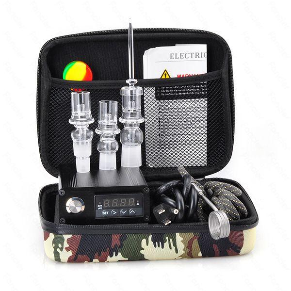 Ucuz Kuvars Tırnak Elektrikli Dab Nail Komple Kiti withTemperature Denetleyicisi için 100 w Rig Yağ Cam Bongs su borusu