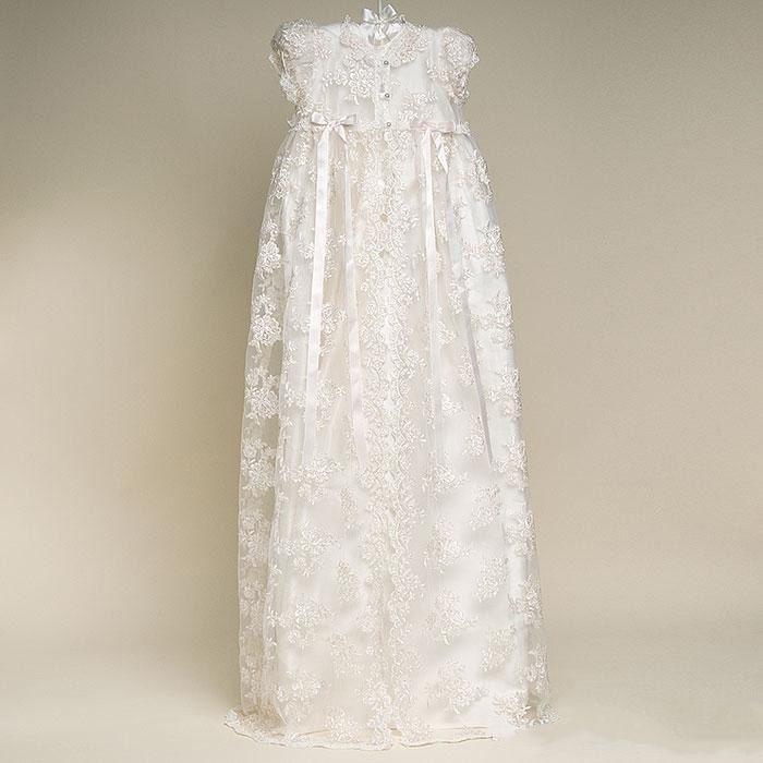 Beigecolor et à la longueur de la nouvelle robe beige robe de beige robe de baptême fille Robes de baptême de baptême