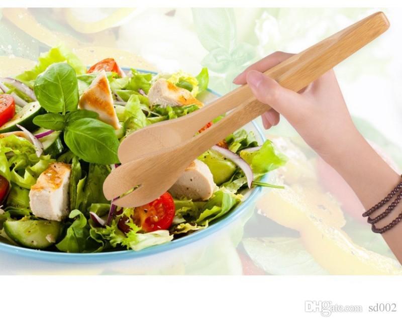 Practical Durable Vegetable Salad Clip Convenient Natural Bamboo Bread Clip Wood Grain Labor Saving Kitchen Tools 3 05ld B