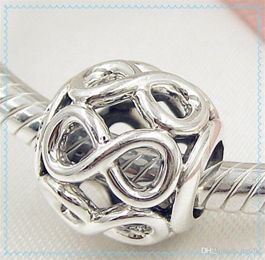 Nuevo 2016 Día de la Madre plata esterlina 925 Infinito Brillo Charm Bead adapta europeo Pandora Style Jewelry pulseras collar
