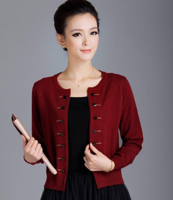 2018 Wholesale Hot Sale 2016 New Pure Cashmere Cardigan Women ...