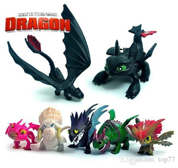 7pcsset Anime How To Train Your Dragon 2 Action Figure Toys Night Fury Toothless Dragon Pvc Figures Toys For Boys