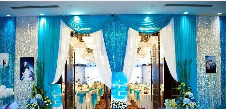 Sequin Fabric For Wedding Decor Stage Backdrops Decoration
