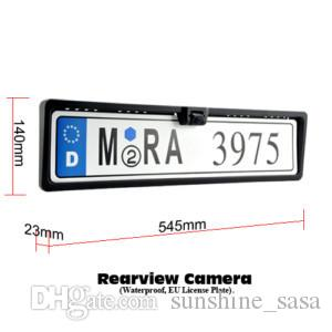 1x 170°HD new EU European Auto Car license plate Number Tag Frame&rear view parking backup camera night vision waterproof DVD TV cables