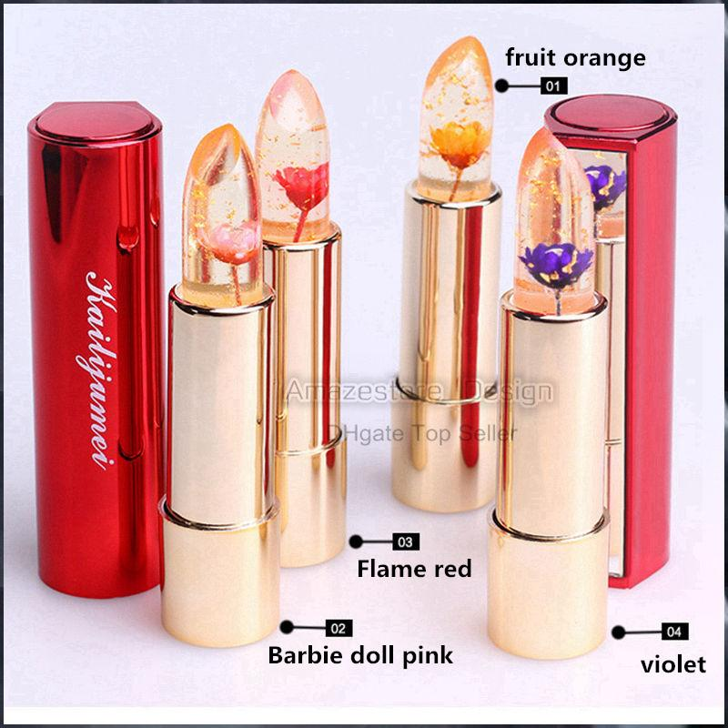 Kailijumei Lipstick Moisturizer Bright Lip Cosmetics Waterproof Lipstick Flower Jelly Temperature Change Color Kailijumei Perfect Lipstick