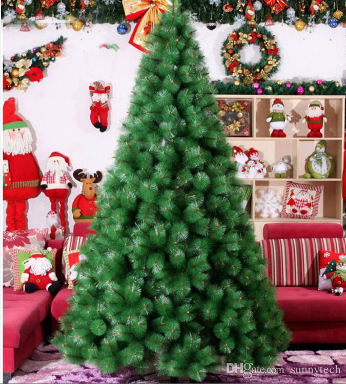 24m 240cm luxury encryption christmas tree pvc pine tree metal frame xmas christmas new year decor festival supplies za1173 christmas party decorations