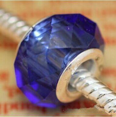 / 로얄 블루면 처리 된 크리스탈 비즈 보석에 대한 느슨한 매력 DIY 비즈 팔찌에 대한 도매 대량 대량 가격
